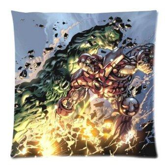 The Avengers Series Hulk and Iron Man Custom Zippered Pillow Cases 18x18 Twin sides Printed