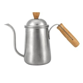 TMISHION 1Pc 650ml Kitchen Stainless Steel Pour Coffee Drip PotKettle With Long Over Gooseneck Spout - intl