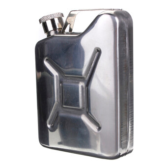 VR_Tech Hip Flask Jerry Can Liquor Whisky Pocket Bottle (Stainless Steel) - intl
