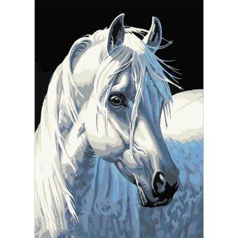White Horse 5D Diamond DIY Painting Craft Home Decor