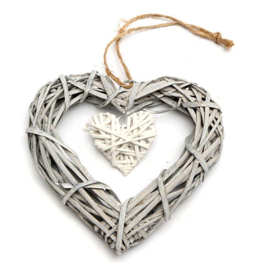 Wicker Love Heart Shape Shabby Chic Wreath Hanging Wedding Birthday Party Decor - Intl ...