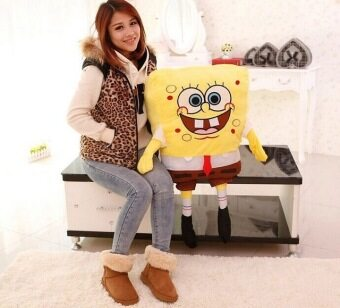 100cm sponge bob plush toy, spongebob stuffed animal doll, bob esponja peluches toy - intl