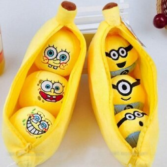 20cm Plush Banana Within Kawaii 3D Minions Cute Spongebob Lovely Emoji Expression Baby Toys#ML0216