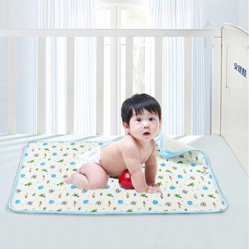 2pc 50x70cmNeonatal ecological cotton padded mattress baby waterproof breathable soft cotton mattress menstrual pad baby supplies - intl