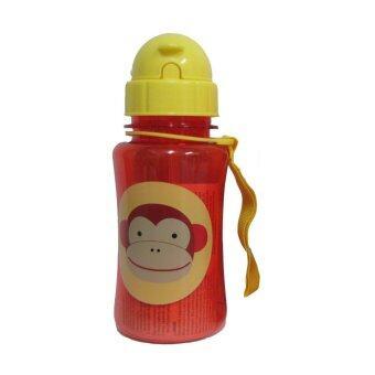 ASIA TOY ขวดน้ำแบบหลอด Skip Hop ลายลิง ขนาด 12oz (สีแดง)