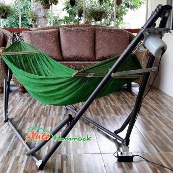 Auto Hammock เปลไกวเด็กอัตโนมัติขนาดใหญ่พิเศษ รุ่นจัมโบ้ผ้าสีเขียว