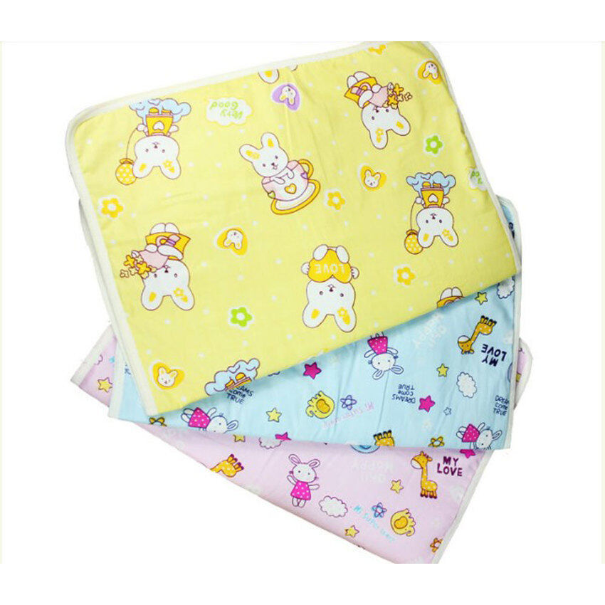 Baby Infant Reusable Cotton Cloth Waterproof Urinal Padcover Mat Mattress Pad,Middle Size (Intl) - intl