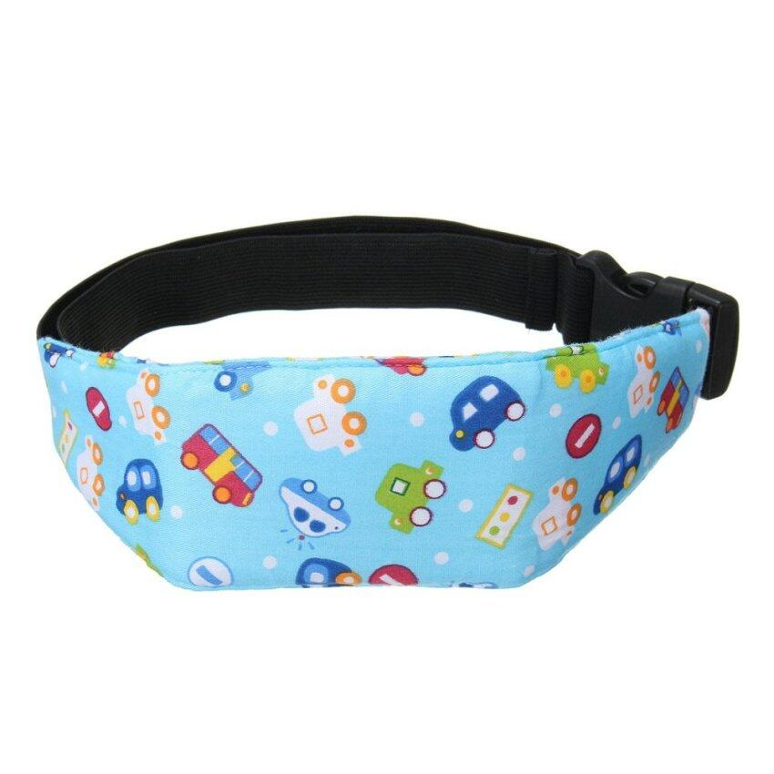 Baby Kids Car Stroller Seat Safety Sleep Nap Aid Head Support Belt Band Holder Blue car - intl