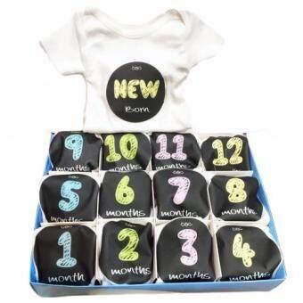 Baby Mamy Monthly Set เซตบอดี้สูท 12 เดือน แรกเกิด - 1 ปี ลาย Chocolate