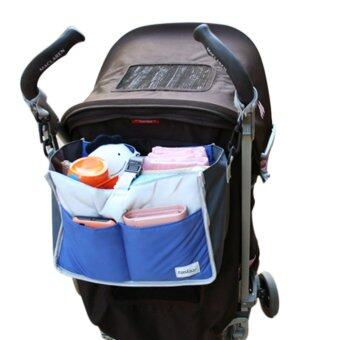 Baby Pushchair Hanging Bag Organizer Strollers Pram Storage Bag Mummy Bag Blue