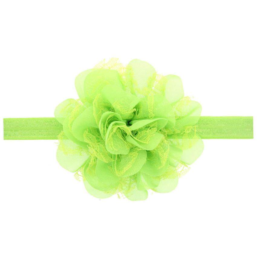 Bear Fashion Newborn Baby Girls Children Korean Style Flower Elastic Hair Band Toddler H ...