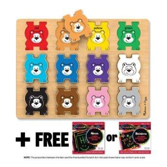 Bears Themed Stacking Chunky Puzzle + FREE Melissa & Doug Scratch Art Mini-Pad Bundle [90278]
