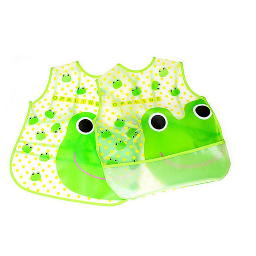 Cartoon Baby Waterproof Frog Bib - intl