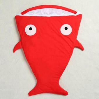 Cartoon Shark Sleeping Bags Newborn Baby Carriage Winter Bedding Warm Pretty Sleepsacks Cotton Soft Sleepsacks (Red) - Intl