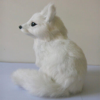 Creative Christmas Gift Handmade Crafts Fox Simulation PlushToys(White)