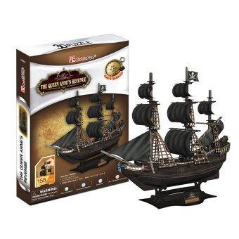 CubicFun 3D Puzzle The Queen Anne's Revenge แบล็คเบียร์ด (เคราดำ) จิ๊กซอว์ 3 มิติ