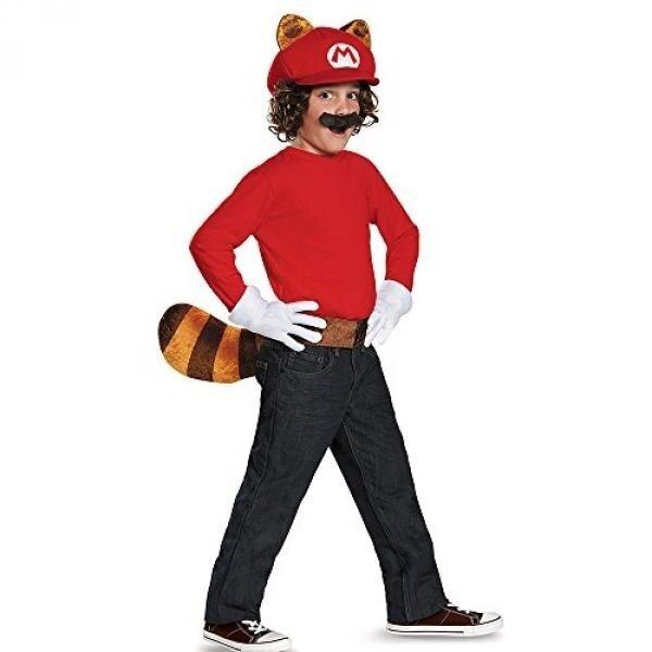 Disguise Mario Raccoon Super Mario Bros. Nintendo Child Kit, One Size Child, One Color - intl