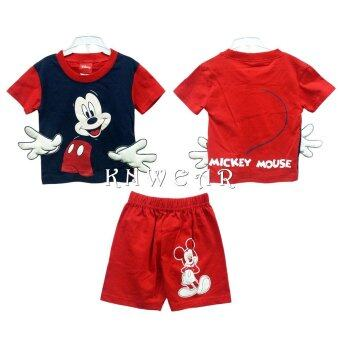 Disney Mickey Mouse and Friends เสื้ิคอตต้อนมีมือฟองน้ำนิ่ม น่ารัก - Size S M L - A1545