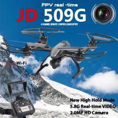 Drone ติดกล้องความละเอียดสูง รุ่น มีจอดูภาพ พร้อมระบบถ่ายทอดสดแบบ Realtime(NEW ระบบ ล็อกความสูง)+มีปุ่มปรับกล้องได้