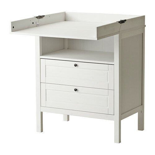 Ezy Decor โต๊ะเปลี่ยนผ้าอ้อมพร้อมตู้ลิ้นชัก (White)