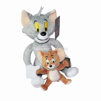 "Free Shipping 2pcs/set Tom And Jerry Mouse 11"" Plush Doll Figure"