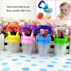 Funny pacifiers silcone baby pacifier food feeder feeding nipple dummy fruits avent nibbler soother bottle clip chain bpa free L Pink - intl ถูกๆ