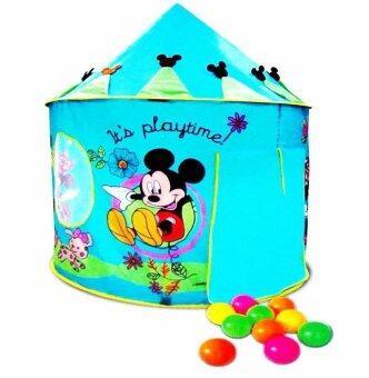Funny Toys เต็นท์มิกกี้เม้าส์สีฟ้า+บอล 10 ลูก