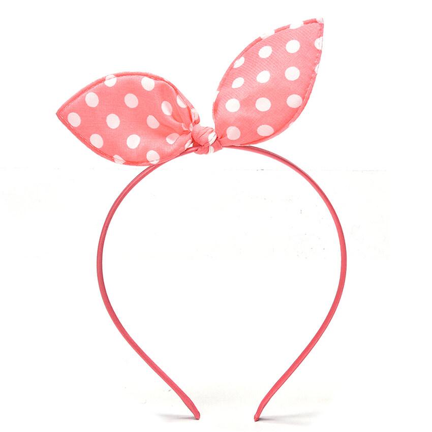 GDS Bow Dots Bunny Rabbit Ear Headwear Hair Bands Headbandwatermelonred - intl ...