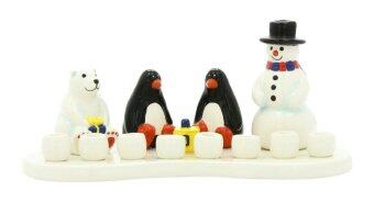 Gift Mark Themed Menorah, Ceramic Arctic - intl