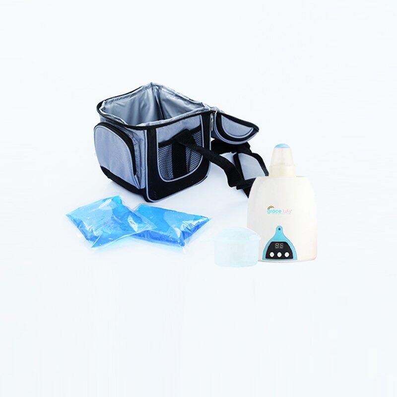 GRACE KIDS กระเป๋าเก็บนมและอาหาร + GRACE KIDS เครื่องอุ่นขวดนม ...