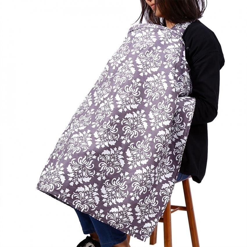 HDL Fashionable Kids Baby Breastfeeding Cover Maternity Nursingcottoncloth Floral Purple - intl image