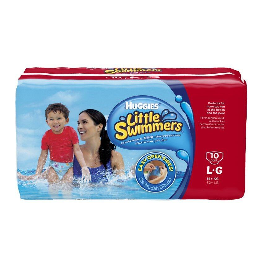 Huggies Little Swimmers ไซส์ L 10 ชิ้น กางเกงผ้าอ้อมสำหรับใส่ว่ายน้ำ