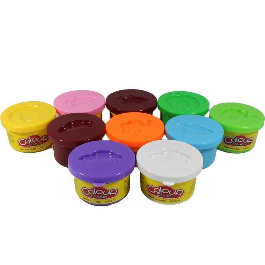 KUKTOY Colour dought เซท แป้งโดว์10 สี 6610