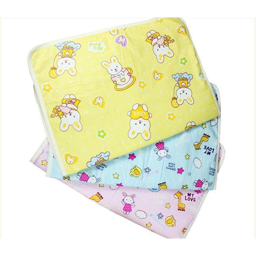 Lanyasy Baby Infant Reusable Cotton Cloth Waterproof Urinal Padcover Mat Mattress Pad,Middle Size - intl