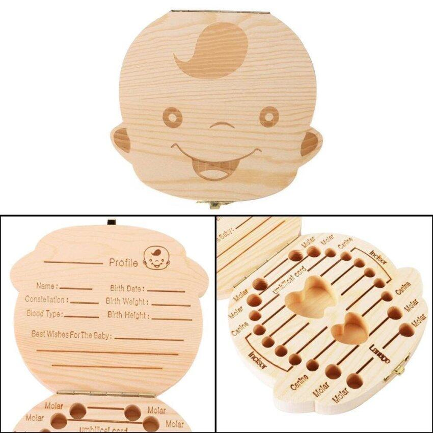 leegoal Baby Wooden Teeth Save Box Milk Teeth Wood Case Storage Kids Keepsake Organizer (Boy) - intl