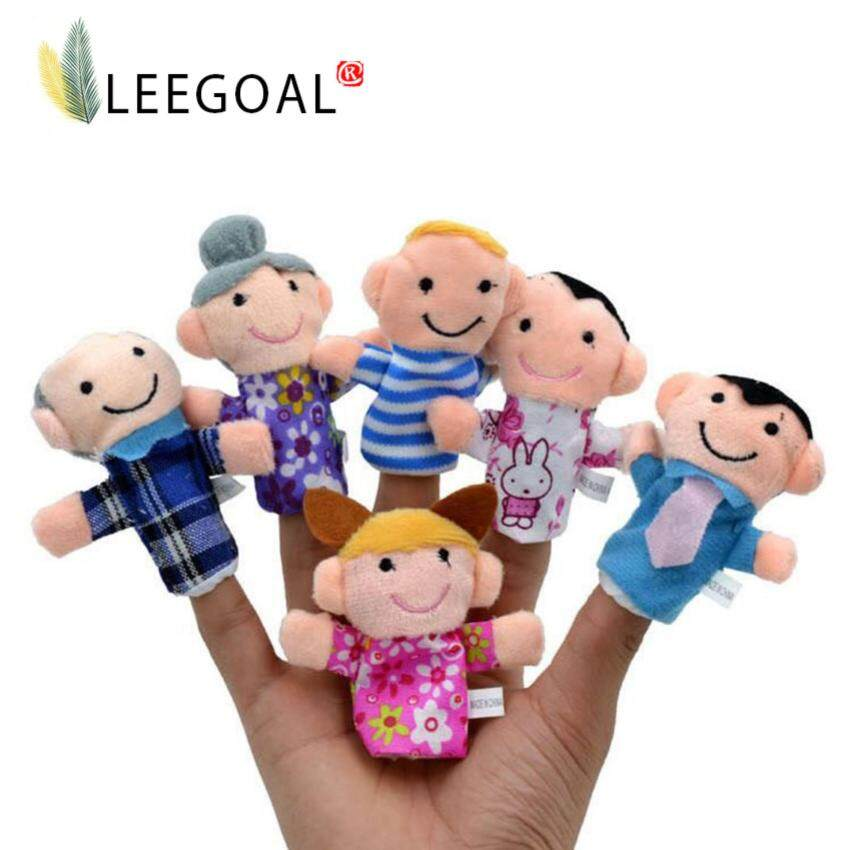 Leegoal Cute 6pcs Family Finger Puppets People Includes Mom Dad Grandpa Grandma Brother  ...