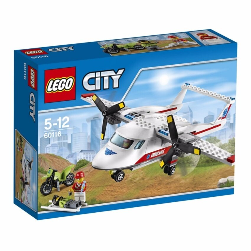 LEGO City Great Vehicle Ambulance Plan - 60116 ฟรี! Poly bag city vehicle