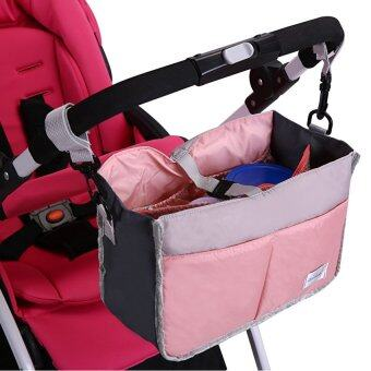 Lemon Baby Stroller Organizer Stroller Accessories Bag For Wheelchairsstroller Bag Organizer-Pink - intl