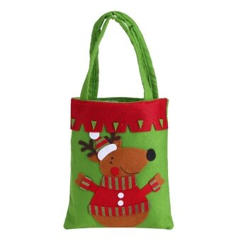 Lovely Santa Christmas Candy Handbag Gift Buckram Bag XmasChristmas Kids Decor Elk - intl