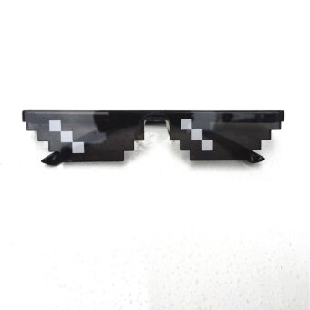 Men Women Goggles Glasses Thug Life 8-Bit MLG Pixelated Sunglassesfor Minecraft players Style:3 grid - intl