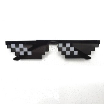 Men Women Goggles Glasses Thug Life 8-Bit MLG Pixelated Sunglassesfor Minecraft players Style:6 grid - intl