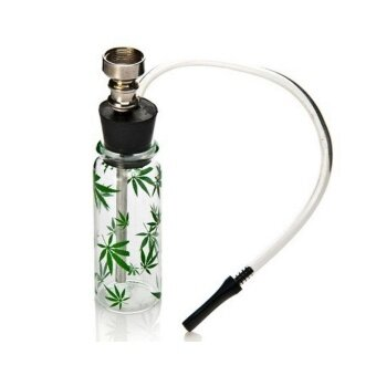 Mini Water Smoking Glass Bottles Portable Hookah Shisha Pipe TubeFilter Hoder - intl