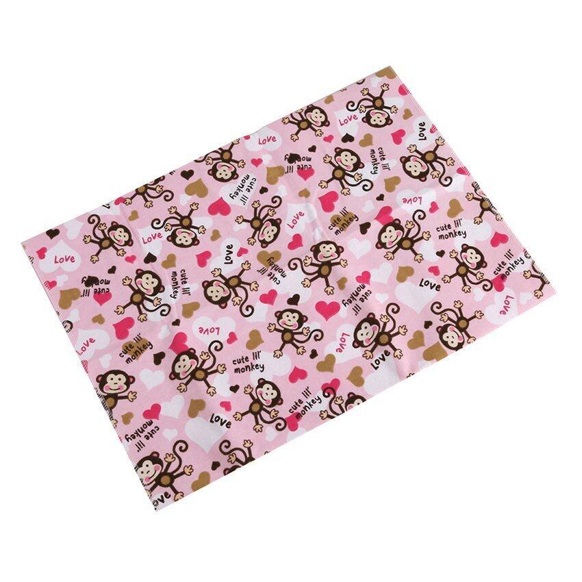 Monkey Children Baby Large Waterproof Bamboo Fiberchanging Mat Cover Pad Baby Infant Diaper 99X79cm Pink - intl
