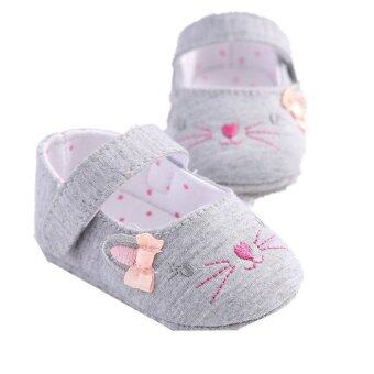 Mouse Hot Toddler Newborn Soft Sole Slip On Shoes Baby Boys Girls Tassel Cotton Shoes S1286- Intl