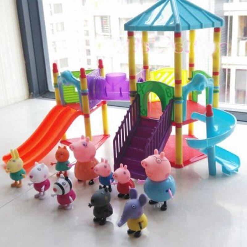 NEW HOT Peppa Pig Big Amusement Park Figures Toys For Kids girls Children - intl ...