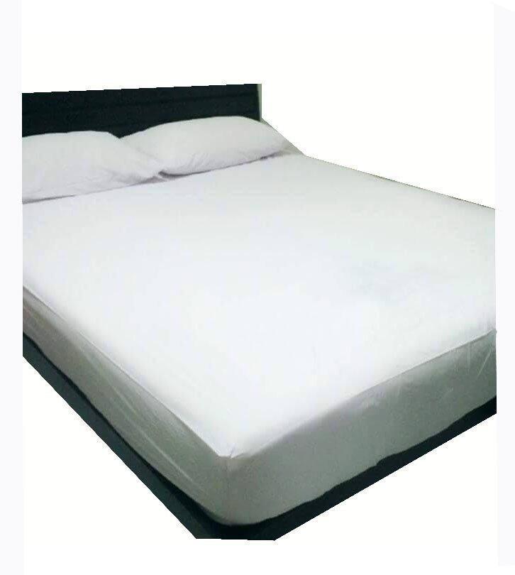 แนะนำP&P Sheetคลุมที่นอนกันน้ำกันฉี่เด็ก 6ฟุต (สีขาว) ราคาโครตถูก