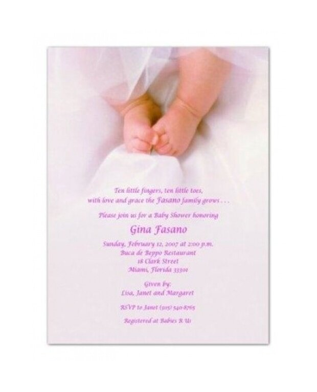 Pink Toes Baby Shower Invitations - Set of 20 - intl ...