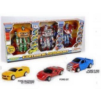 POOBPUP Toys เซท หุ่นยนต์แปลงร่าง Transforming 3 ตัว