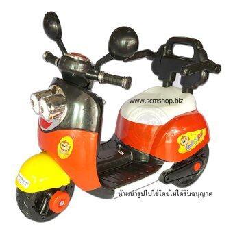 รถเด็กแบตเตอรี่ไฟฟ้า รถบังคับ รถสามล้อ รถมอเตอร์ไซค์เด็กเล่น มินเนียน สีแดง