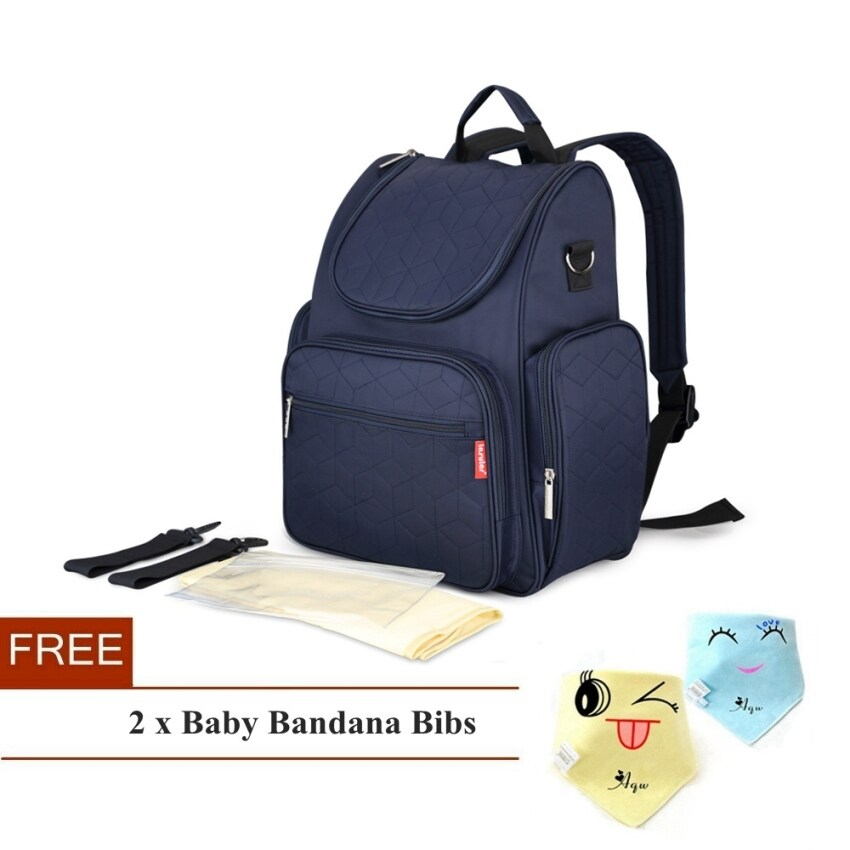 Simplicity Multi-function Baby Diaper Bag Mummy Backpack(Navy Blue) ...